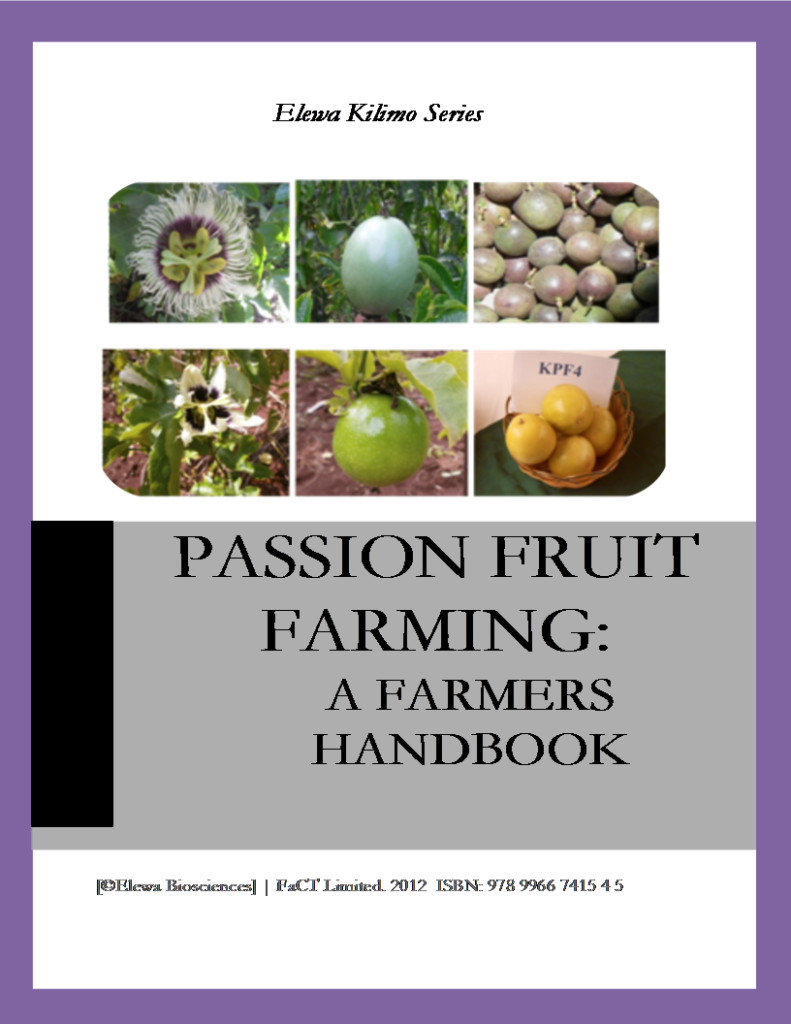 Passion Fruit Farming Farmers book = Cover